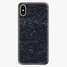 iSaprio Silikonové pouzdro - Night Sky 01 - iPhone XS