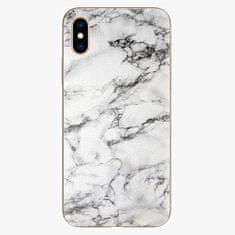 iSaprio Silikonové pouzdro - White Marble 01 - iPhone XS
