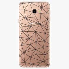 iSaprio Plastový kryt - Abstract Triangles 03 - black - Samsung Galaxy J4+