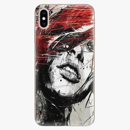 iSaprio Silikonové pouzdro - Sketch Face - iPhone XS Max