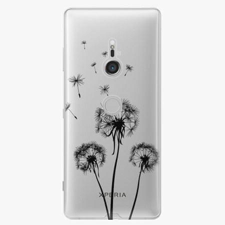 iSaprio Plastový kryt - Three Dandelions - black - Sony Xperia XZ3