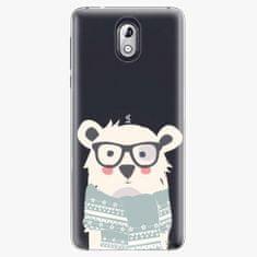 iSaprio Plastový kryt - Bear with Scarf - Nokia 3.1