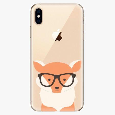 iSaprio Silikonové pouzdro - Orange Fox - iPhone XS Max