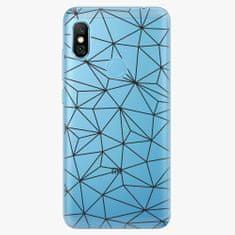iSaprio Plastový kryt - Abstract Triangles 03 - black - Xiaomi Redmi Note 6 Pro