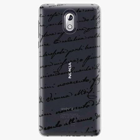 iSaprio Plastový kryt - Handwriting 01 - black - Nokia 3.1