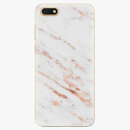 iSaprio Silikonové pouzdro - Rose Gold Marble - Huawei Honor 7S