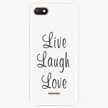 iSaprio Plastový kryt - Live Laugh Love - Xiaomi Redmi 6A