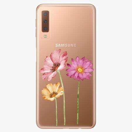 iSaprio Plastový kryt - Three Flowers - Samsung Galaxy A7 (2018)