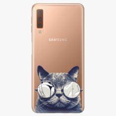 iSaprio Plastový kryt - Crazy Cat 01 - Samsung Galaxy A7 (2018)
