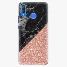 iSaprio Plastový kryt - Rose and Black Marble - Huawei Y9 2019