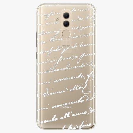 iSaprio Plastový kryt - Handwriting 01 - white - Huawei Mate 20 Lite