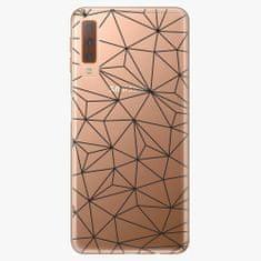 iSaprio Plastový kryt - Abstract Triangles 03 - black - Samsung Galaxy A7 (2018)
