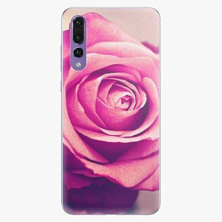 iSaprio Silikonové pouzdro - Pink Rose - Huawei P20 Pro
