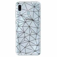 iSaprio Plastový kryt - Abstract Triangles 03 - black - Samsung Galaxy A30