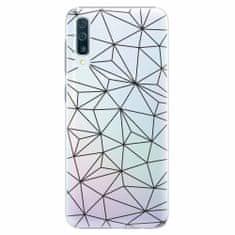 iSaprio Plastový kryt - Abstract Triangles 03 - black - Samsung Galaxy A50