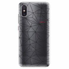 iSaprio Plastový kryt - Abstract Triangles 03 - black - Xiaomi Mi 8 Pro