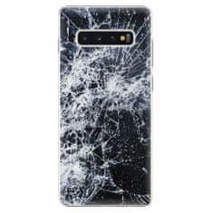 iSaprio Plastový kryt - Cracked - Samsung Galaxy S10+
