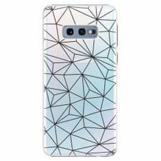 iSaprio Plastový kryt - Abstract Triangles 03 - black - Samsung Galaxy S10e