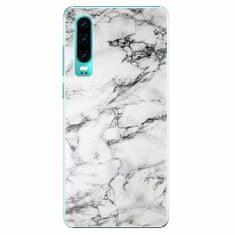 iSaprio Plastový kryt - White Marble 01 - Huawei P30