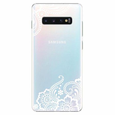 iSaprio Plastový kryt - White Lace 02 - Samsung Galaxy S10+