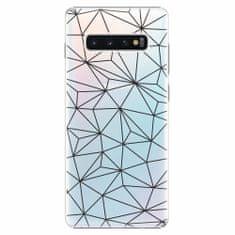 iSaprio Plastový kryt - Abstract Triangles 03 - black - Samsung Galaxy S10+