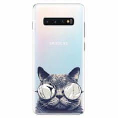 iSaprio Plastový kryt - Crazy Cat 01 - Samsung Galaxy S10+