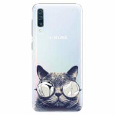 iSaprio Plastový kryt - Crazy Cat 01 - Samsung Galaxy A50