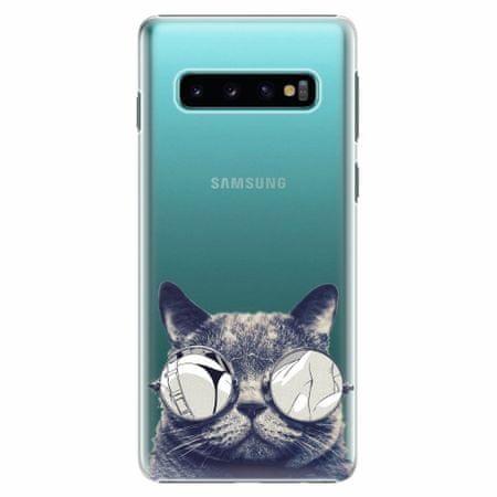 iSaprio Plastový kryt - Crazy Cat 01 - Samsung Galaxy S10