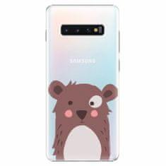 iSaprio Plastový kryt - Brown Bear - Samsung Galaxy S10+