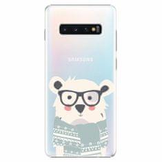 iSaprio Plastový kryt - Bear with Scarf - Samsung Galaxy S10+