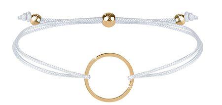 Troli Zapestnica iz vrvice z obročem iz bele / zlate barve