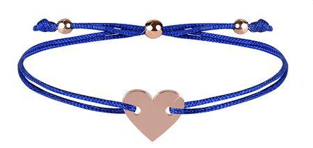 Troli Kötött karkötő a szív kék / bronz