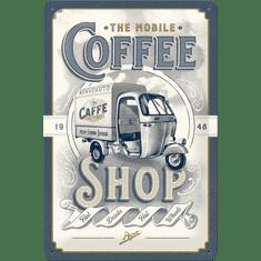 Postershop Plechová cedule The Mobile Coffee Shop, 30 × 20 cm