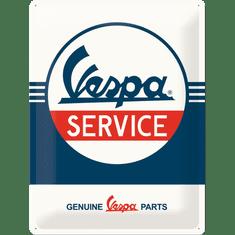 Postershop Plechová cedule Vespa Service, 40 × 30 cm
