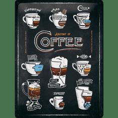 Postershop Plechová cedule Anatomy of Coffee, 40 × 30 cm