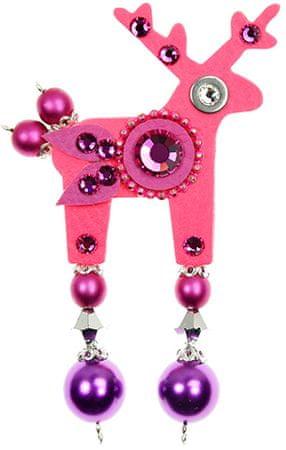 Deers Neon rózsaszín szarvas Rolf