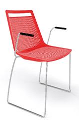 Emagra Plastová židle na lyžinách AKAMI