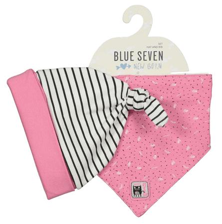 Blue Seven lány sapka és kendő készlet 56 rózsaszín