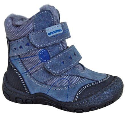 Protetika chlapecké zimní boty LAROS 19 šedá