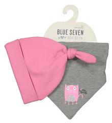 Blue Seven dívčí set čepičky a šátku