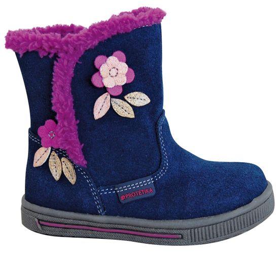 Protetika dívčí zimní boty SIMONA 22 tmavě modrá