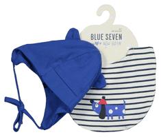 Blue Seven chlapecký set čepičky a bryndáčku