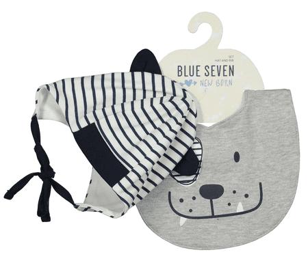 Blue Seven fantovski komplet kape in rutke, 56, temno modra