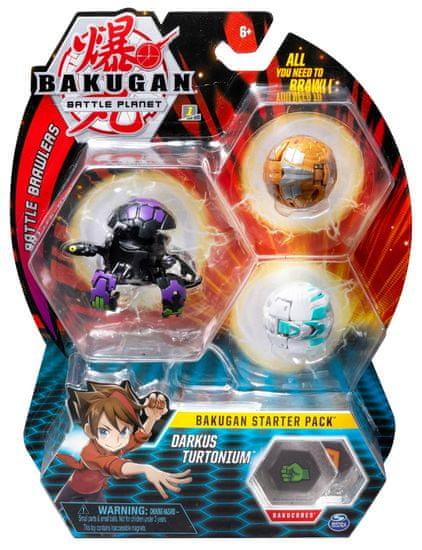 Bakugan Startovací sada 3 ks Darkus Turtonium