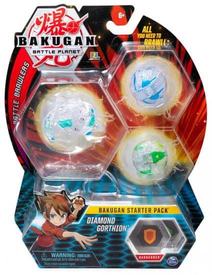 Bakugan Startovací sada 3 ks Diamond Gorthion