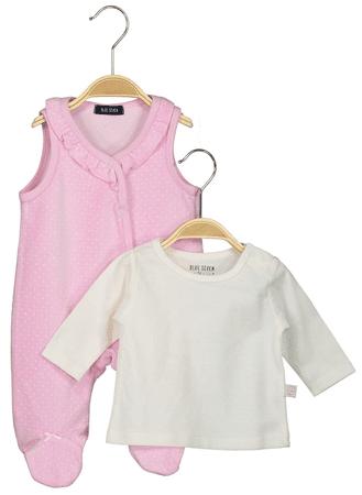 Blue Seven otroški komplet z majico in pajacom, 62, roza