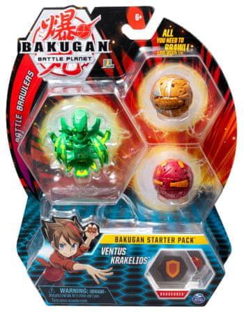 Spin Master Bakugan Kezdő készlet 3 db Ventus Krakelios