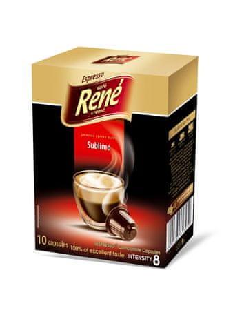 René kapsułki Sublimo do ekspresów do kawy Nespresso, 10 szt.