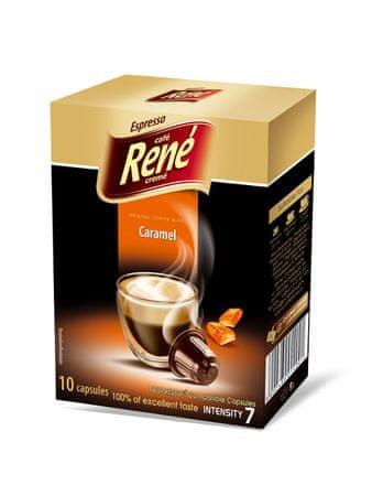 René Espresso Caramel Nespresso kávéfőzőbe alkalmas kapszulák, 10db