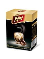 René Nespresso kávéfőzőbe alkalmas Ristretto kapszulák, 10 db